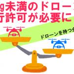【重要】200g未満のドローンに航空法が適用